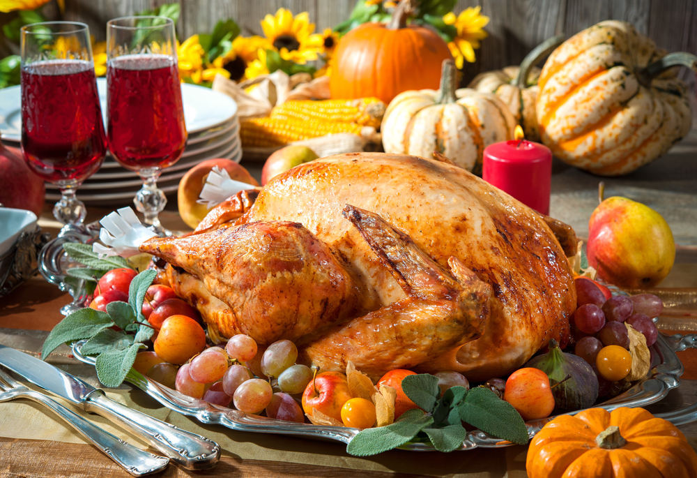 Thanksgiving food menu programs